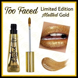 Too Faced Melted Gold Liquid Foil Lip Gloss💋